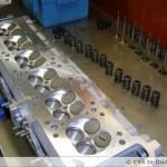 Cilinderkop in opbouw